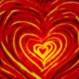Het patroon van het de liefdethema van valentijnskaartenharten Stock Afbeelding