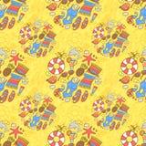 Het patroon van het de zomerstrand Royalty-vrije Stock Afbeelding