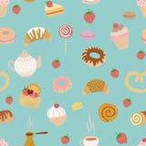 Het patroon van het gebakje Stock Foto's