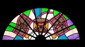 Het patroon van het gebrandschilderd glas Royalty-vrije Stock Fotografie