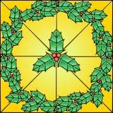 Het Patroon van het gebrandschilderd glas - Hulst Royalty-vrije Stock Fotografie