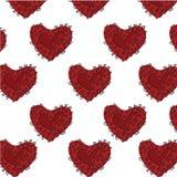 Het Patroon van het hart Stock Afbeeldingen