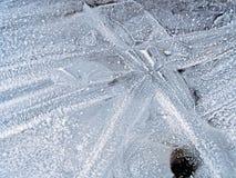 Het Patroon van het ijs Royalty-vrije Stock Foto's
