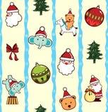 Het Patroon van het Karakter van het Beeldverhaal van Kerstmis Stock Afbeeldingen