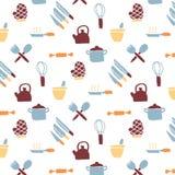 Het patroon van het keukenpictogram Royalty-vrije Stock Afbeelding