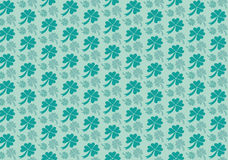 Het patroon van het klaverblad Stock Fotografie