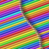 Het patroon van het kleurenpotlood Royalty-vrije Stock Fotografie