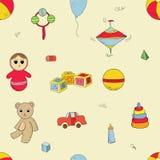 Het patroon van het kleurenspeelgoed Stock Afbeeldingen