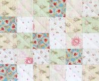 Het patroon van het lapwerkdekbed Stock Foto