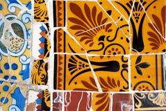 Het patroon van het Mozaïek van Gaudi royalty-vrije stock fotografie