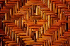 Het patroon van het rijs of van de rotan Royalty-vrije Stock Foto