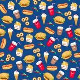 Het patroon van het snelle Voedsel Stock Afbeelding