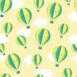 Het patroon van hete luchtballons Royalty-vrije Stock Foto