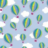 Het patroon van hete luchtballons Royalty-vrije Stock Foto's