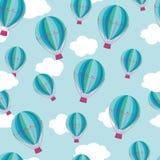 Het patroon van hete luchtballons royalty-vrije stock fotografie