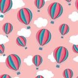 Het patroon van hete luchtballons stock foto's