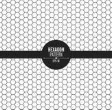 Het patroon van honingraat is zwart Achtergrond voor uw project Zwarte op Wit stock illustratie
