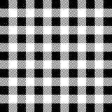 Het Patroon van houthakkersbuffalo plaid seamless Witte en Zwarte Houthakker vector illustratie