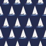 Het patroon van het jacht is waterverf vector illustratie