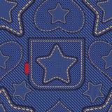 Het patroon van jeans Stock Afbeeldingen