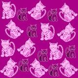 Het patroon van katten Royalty-vrije Stock Fotografie