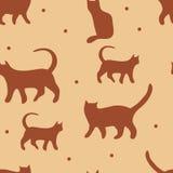 Het patroon van kattenvormen Stock Foto