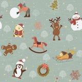 Het patroon van Kerstmis Royalty-vrije Stock Foto's