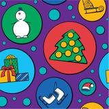 Het patroon van Kerstmis Stock Foto's