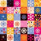 Het patroon van Kerstmis van sneeuwvlokken Royalty-vrije Stock Foto's