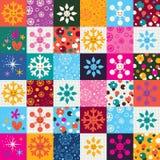 Het patroon van Kerstmis van sneeuwvlokken Stock Afbeeldingen