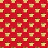 Het patroon van Kerstmisgiften Stock Foto