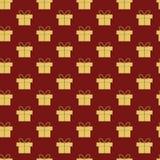 Het patroon van Kerstmisgiften Stock Afbeelding