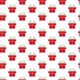 Het patroon van Kerstmisgiften Royalty-vrije Stock Afbeeldingen