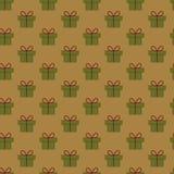 Het patroon van Kerstmisgiften Stock Afbeeldingen