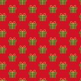 Het patroon van Kerstmisgiften Stock Foto's