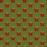 Het patroon van Kerstmisgiften Royalty-vrije Stock Fotografie