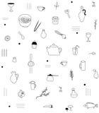 Het patroon van keukentoebehoren Stock Fotografie