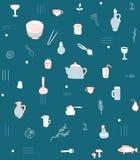 Het patroon van keukentoebehoren Royalty-vrije Stock Foto