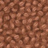 Het patroon van koffiebonen Royalty-vrije Stock Foto