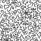 Het patroon van krabbels Stock Illustratie