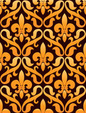 Het patroon van lelies Royalty-vrije Stock Foto's