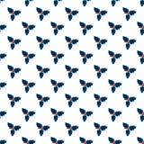 Het patroon van maretakkerstmis Stock Afbeelding