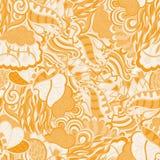 Het patroon van Mehnditracery, Naadloze, met de hand gemaakte Natuurlijk Royalty-vrije Stock Foto's