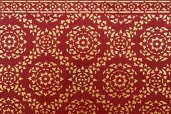 Het patroon van muurschilderingenthailand Stock Foto