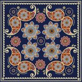 Het patroon van Paisley Ontwerp voor sjaal, kaart, kussensloop, textiel, tapijt vector illustratie