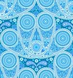 Het Patroon van Paisley van de pauwstaart Stock Afbeelding