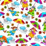 Het patroon van paraplu's Stock Afbeelding