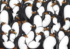 Het patroon van pinguïnen Stock Afbeeldingen