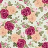 Het patroon van rozen Stock Foto