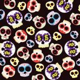 Het patroon van schedels Stock Foto's